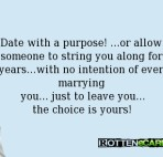 Purposefully Dating